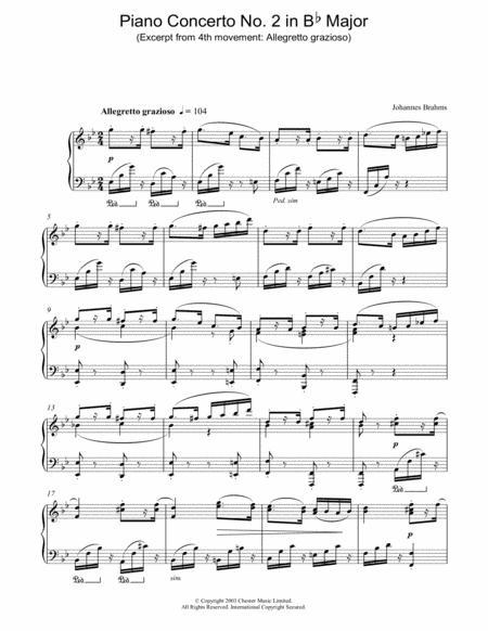 Piano Concerto No. 2 in Bb Major (Excerpt from 4th movement: Allegretto grazioso)