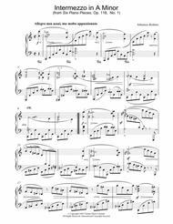 Intermezzo in A Minor (from Six Piano Pieces, Op. 118, No. 1)