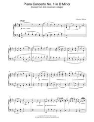 Piano Concerto No. 1 in D Minor (Excerpt from 2nd movement: Adagio)