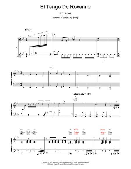 El tango de roxanne sheet music for violin, clarinet download free.