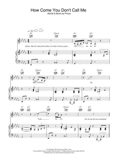 Download How Come You Dont Call Me Sheet Music By Alicia Keys