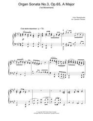 Organ Sonata No.3, Op.65, A Major