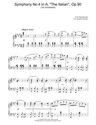 Symphony No.4 in A, 'The Italian', Op.90 (1st Movement)