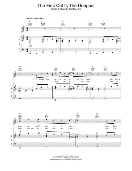 Download The First Cut Is The Deepest Sheet Music By Rod Stewart ...