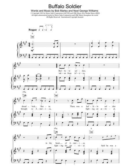 Preview Buffalo Soldier By Bob Marley Hx13321 Sheet Music Plus