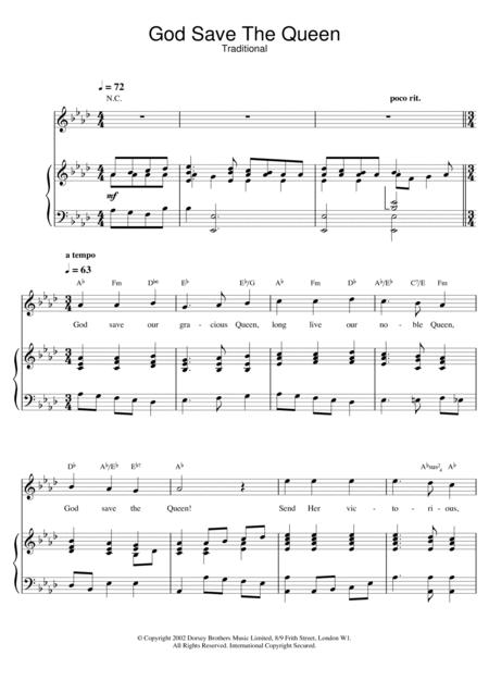 God Save The Queen (UK National Anthem)