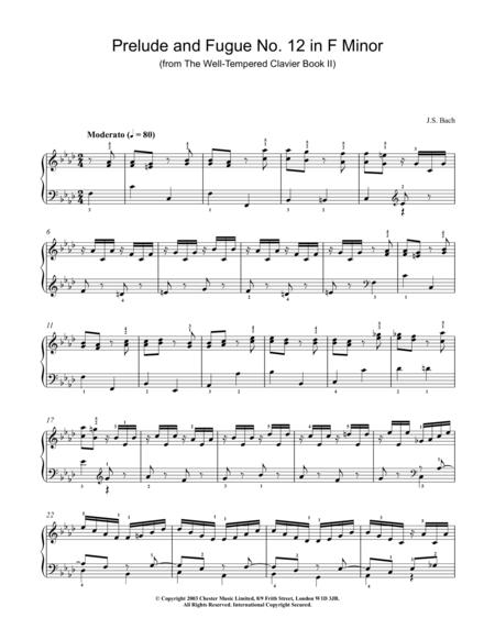 Prelude in F Major (Trumpet Part)