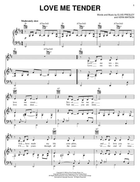 Download Love Me Tender Sheet Music By Norah Jones - Sheet Music Plus
