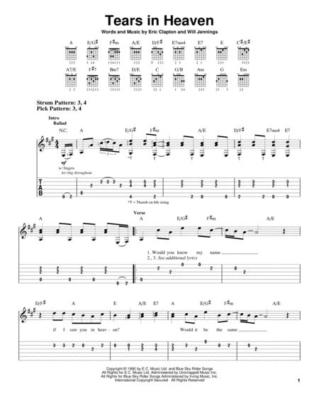 Preview Tears In Heaven By Eric Clapton (HX 15033) - Sheet Music Plus