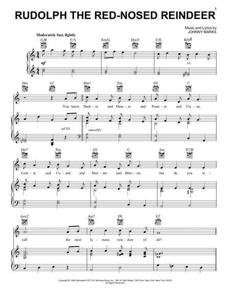 Download Rudolph The Red Nosed Reindeer Sheet Music By Johnny Marks