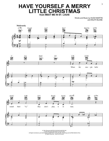 Download Have Yourself A Merry Little Christmas Sheet Music By Frank ...