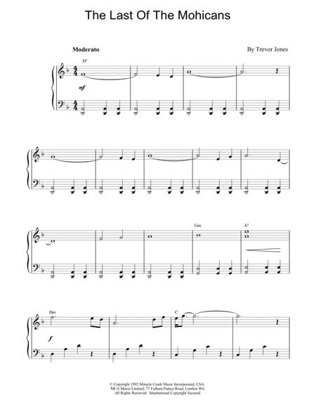 Download The Last Of The Mohicans Sheet Music By Trevor