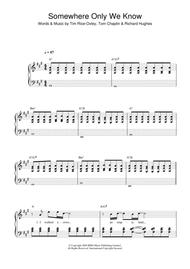 Download somewhere only we know string quartet sheet music by.