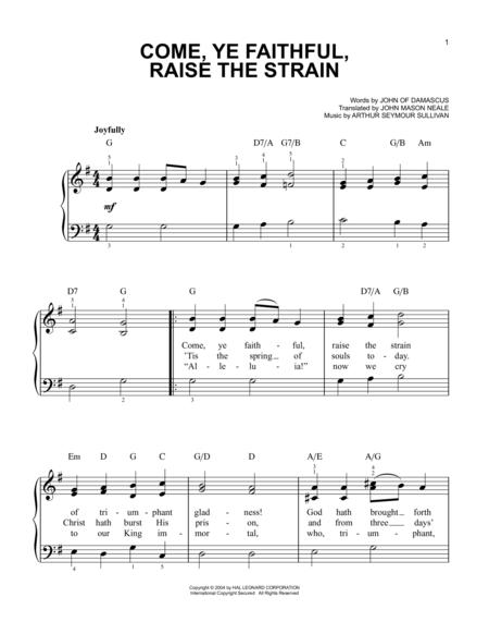 Come, Ye Faithful, Raise The Strain