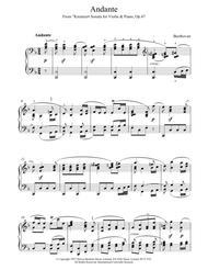 Andante Kreutzer Sonata