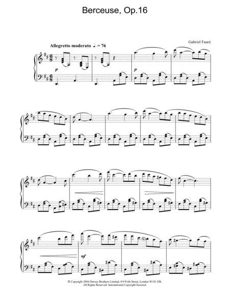 Berceuse, Op.16