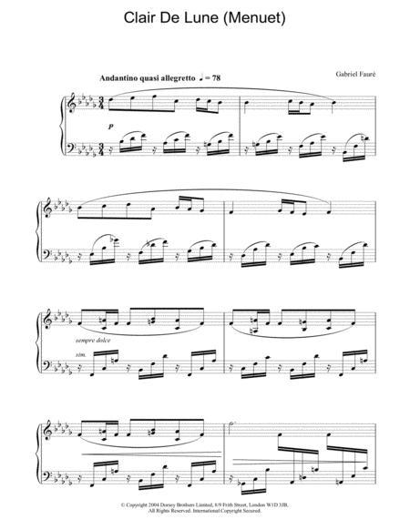 Clair de Lune (Menuet)