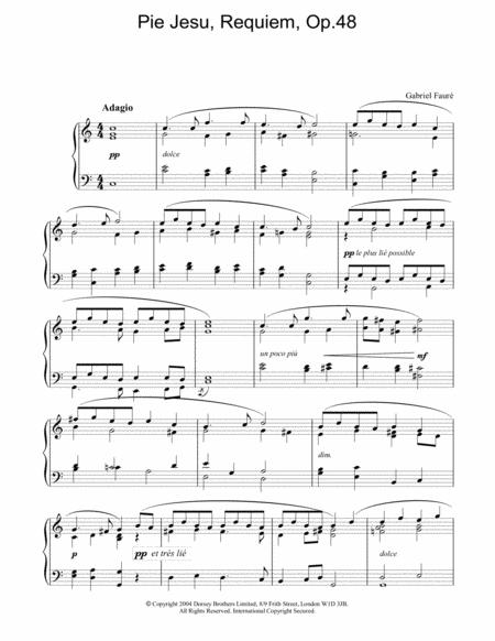 Pie Jesu, Requiem, Op.48