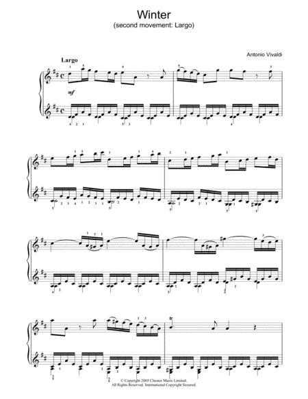 Winter (second movement: Largo)