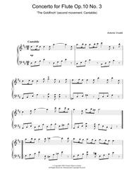 Concerto for Flute Op.10, No.3 'The Goldfinch' (2nd Movement: Cantabile)