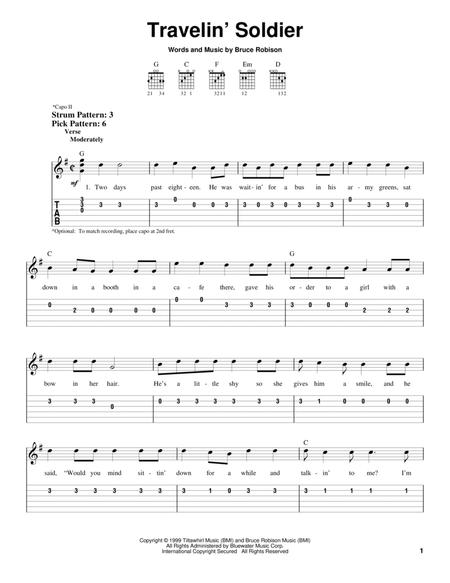 Download Travelin\' Soldier Sheet Music By Dixie Chicks - Sheet Music ...