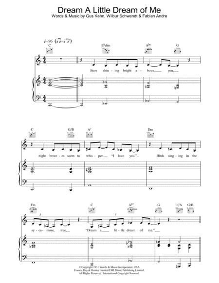 Download Dream A Little Dream Of Me Sheet Music By Gus Kahn Sheet