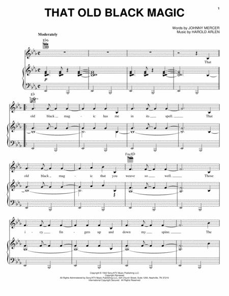 Download That Old Black Magic Sheet Music By Louis Prima Sheet
