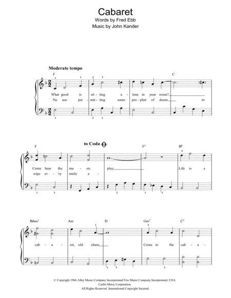 Cabaret (Chorus Only)