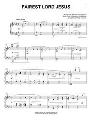 Fairest Lord Jesus [Jazz version] (arr. Phillip Keveren)