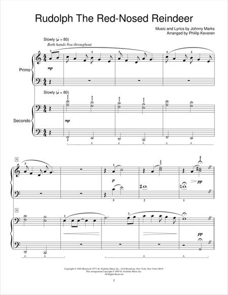 rudolph the red nosed reindeer by johnny marks johnny marks digital sheet music for download print hx 21826 sheet music plus rudolph the red nosed reindeer