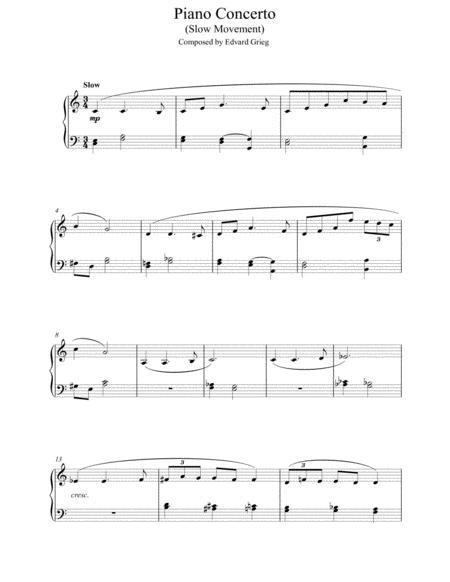 Piano Concerto in G minor (Slow Movement)