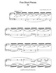 Five Short Pieces, No. 4, Op. 4