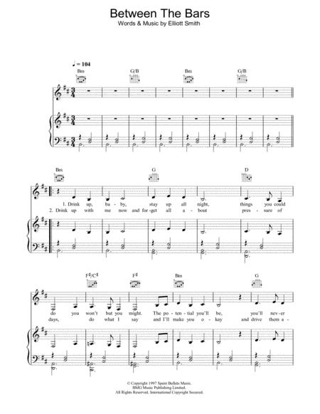 Between The Bars By Digital Sheet Music For Piano Vocal Guitar