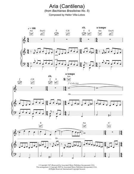Aria (Cantilena) from Bachianas Brasileiras No. 5