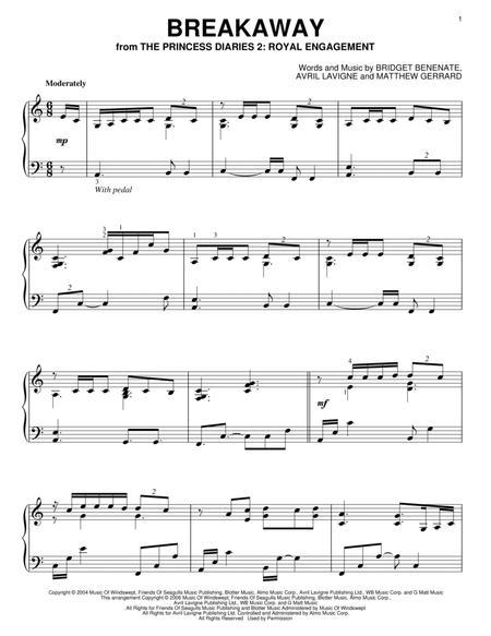 Download Breakaway Sheet Music By Kelly Clarkson Sheet Music Plus