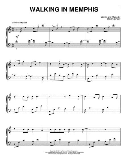 Download Walking In Memphis Sheet Music By Lonestar Sheet Music Plus
