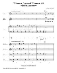 Welcome One And Welcome All - A Festive Processional - Full Score