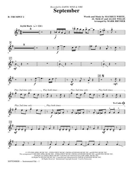September - Bb Trumpet 2