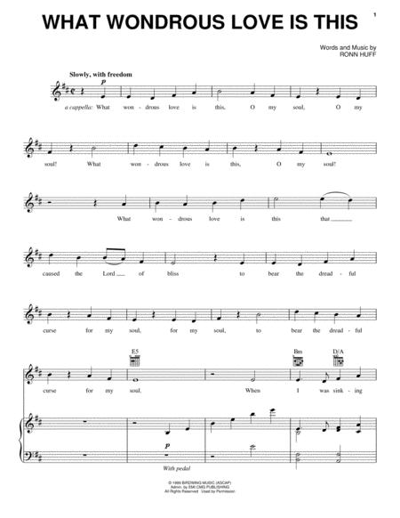 Download What Wondrous Love Is This Sheet Music By Steve Green ...