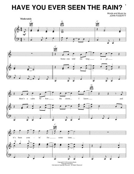 Download Have You Ever Seen The Rain? Sheet Music By Creedence ...