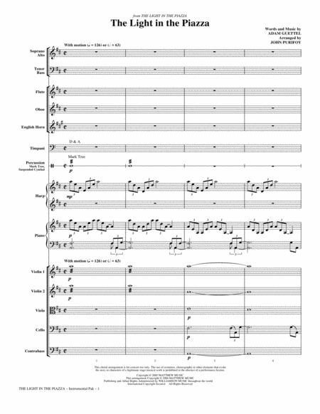 The Light In The Piazza - Full Score