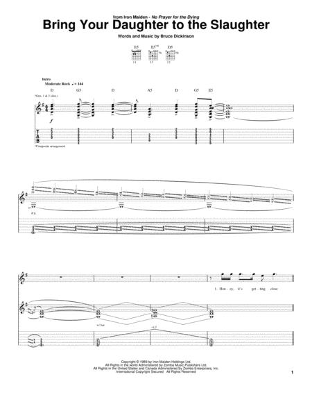 Download Bring Your Daughter To The Slaughter Sheet Music By