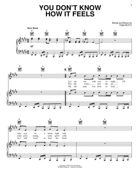 Download You Dont Know How It Feels Sheet Music By Tom Petty