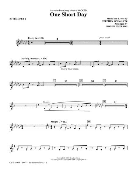 One Short Day - Bb Trumpet 2