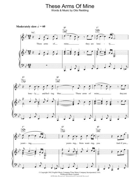 Download These Arms Of Mine Sheet Music By Otis Redding Sheet