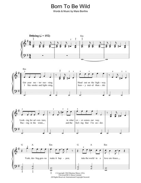 Download Born To Be Wild Sheet Music By Steppenwolf Sheet Music Plus