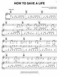 Download how to save a life sheet music by the fray sheet music plus ccuart Images
