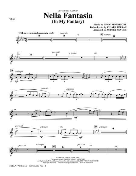Nella Fantasia (In My Fantasy) - Oboe