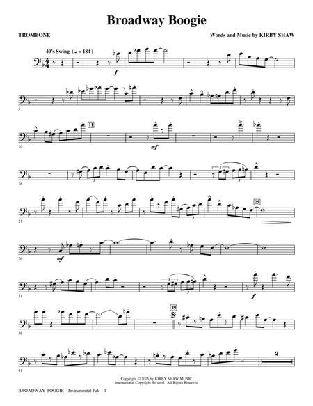 Broadway Boogie - Trombone