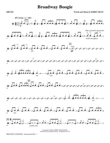 Broadway Boogie - Drums
